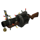 Gore-Spattered Festive Grenade Launcher