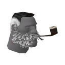 Comfortable Lord Cockswain's Novelty Mutton Chops and Pipe