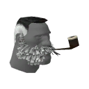 Unusual Lord Cockswain's Novelty Mutton Chops and Pipe