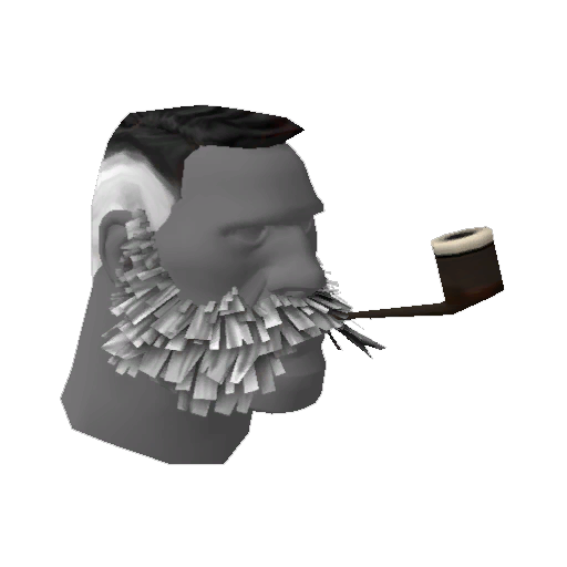 Lord Cockswain's Novelty Mutton Chops and Pipe #65148