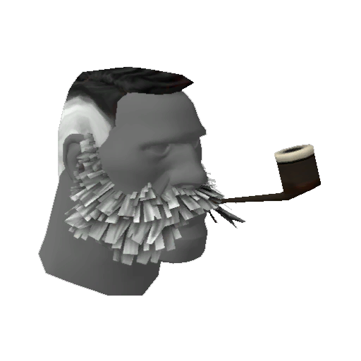 Spooky Splatt's Lord Cockswain's Novelty Mutton Chops and Pipe