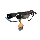 Gore-Spattered Silver Botkiller Flame Thrower Mk.II