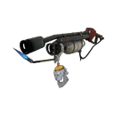 Somewhat Threatening Silver Botkiller Flame Thrower Mk.I