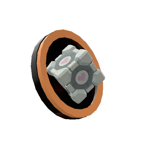 Takngitslo's Genuine Companion Cube Pin