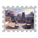 Quality 6 Map Stamp - Highpass (1936)