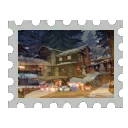 Map Stamp - Snowfall