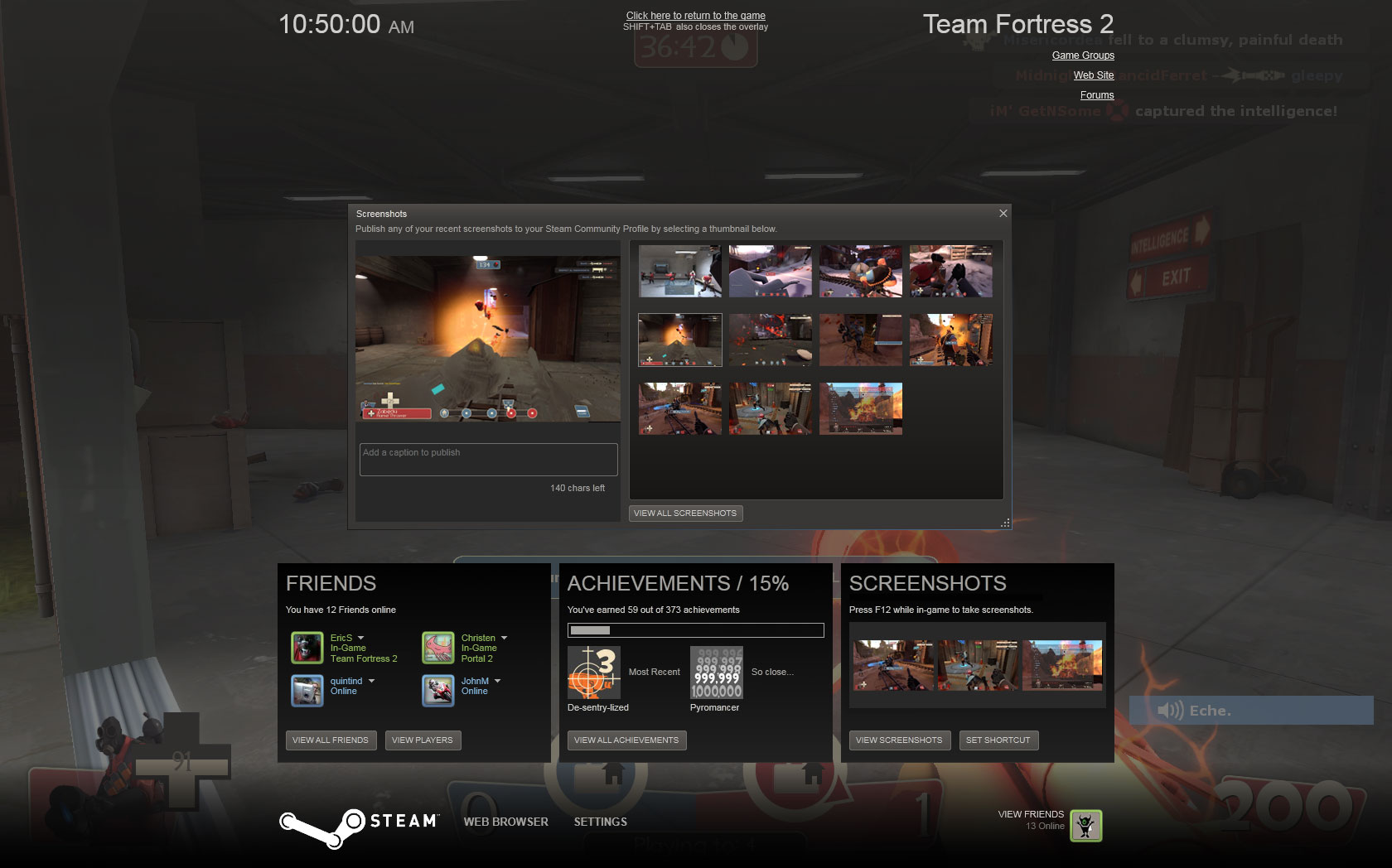 steam in game overlay