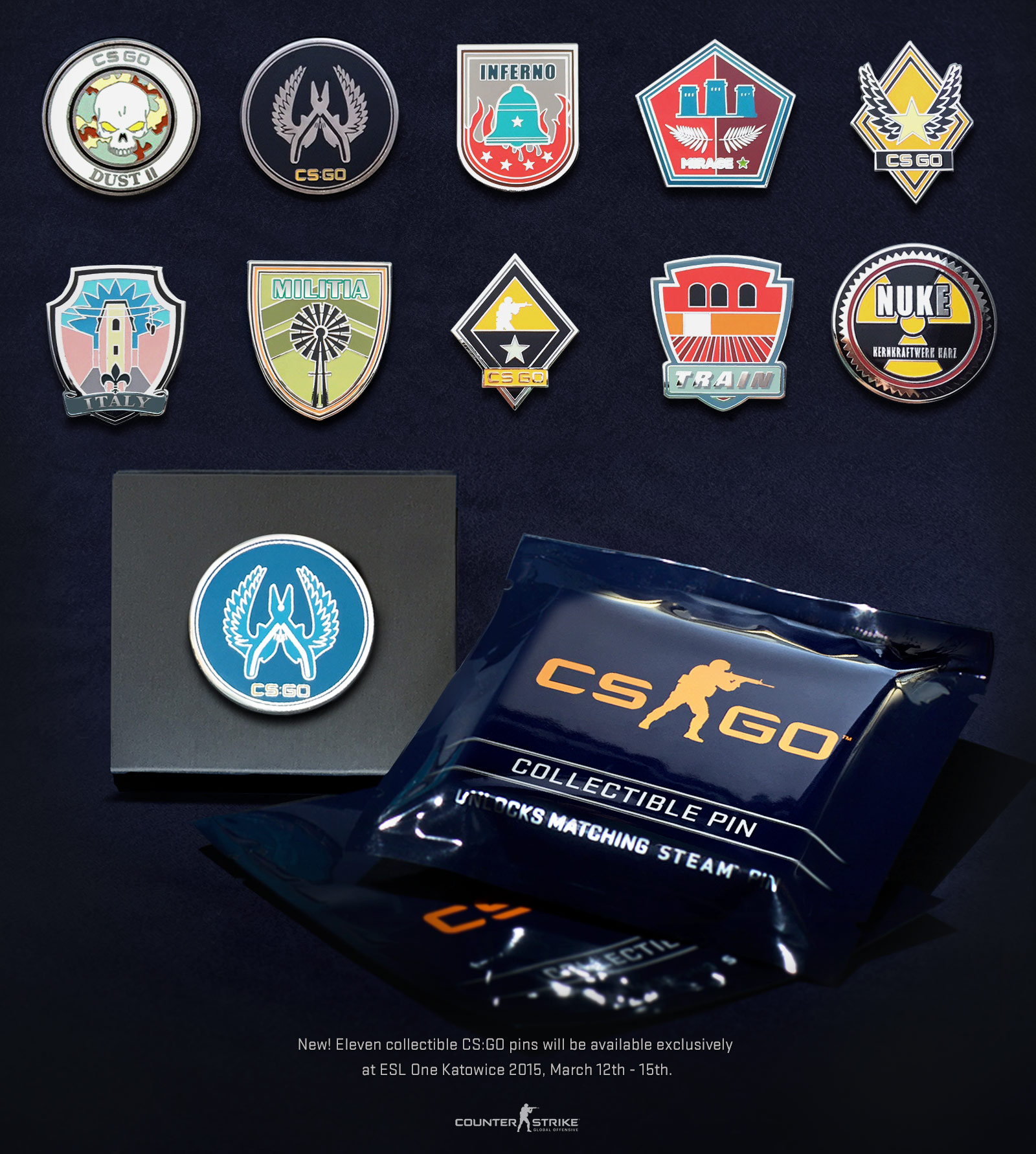 genuine train pin counter strike global offensive genuine high grade