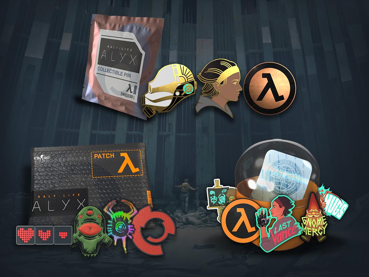 Half-Life: Alyx колекционерски значки, нашивки и стикери
