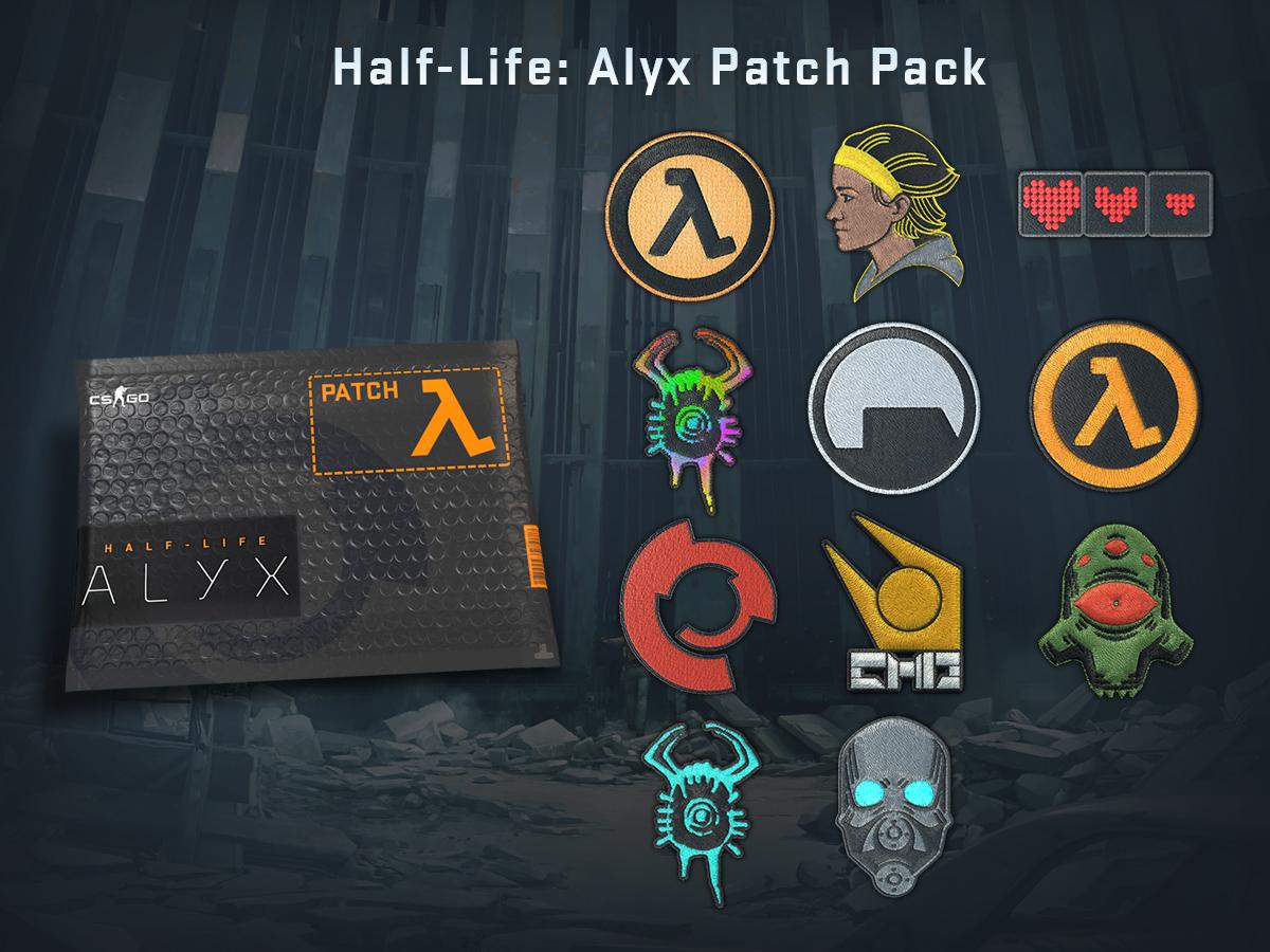 Пакет с Half-Life: Alyx нашивки