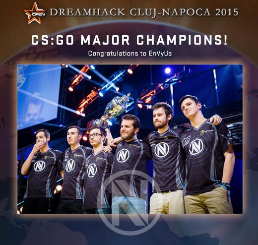 EnVyUs — шампионите в DreamHack Cluj-Napoca 2015