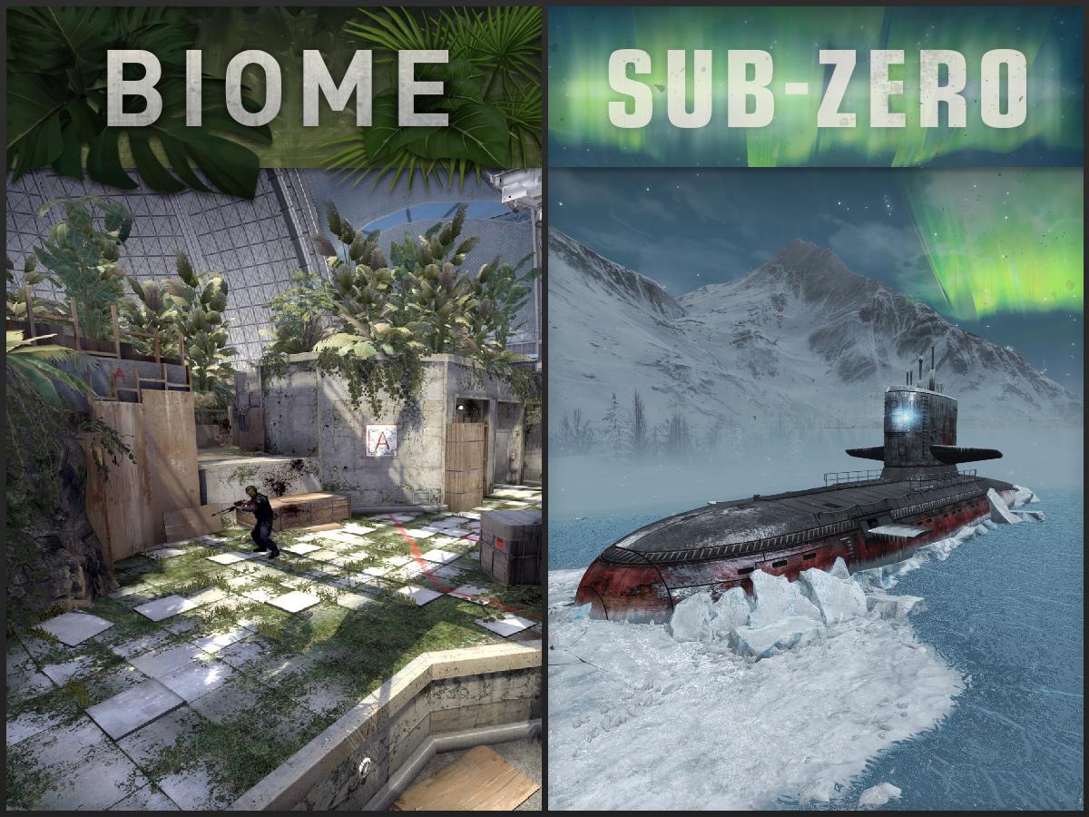 Новите обществени карти Biome и Subzero