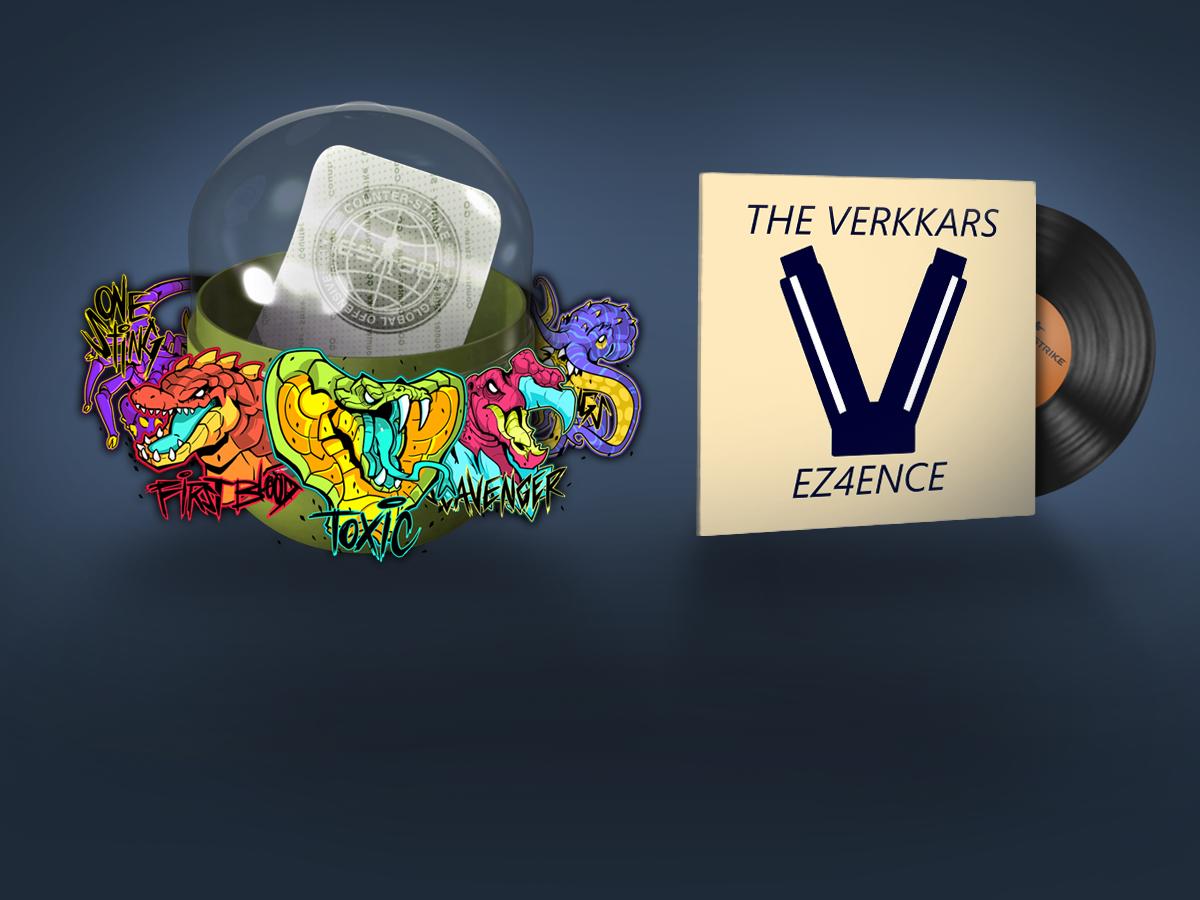 """Музикален комплект Verkkar — EZ4ENCE и капсула със стикери """"Подивели хищници"""""""
