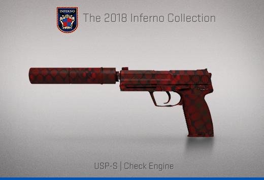 "Колекцията ""Inferno 2018"" — USP-S | Проверка на двигателя | Check Engine"