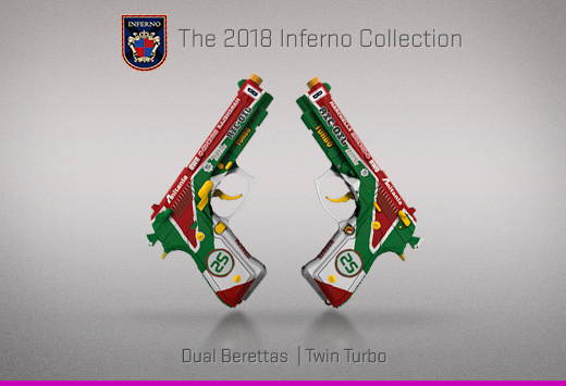 "Колекцията ""Inferno 2018"" — Dual Berettas | Турбо чифт | Twin Turbo"