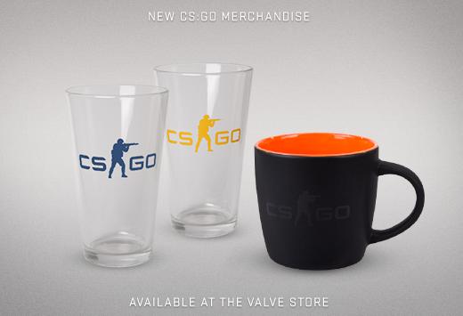 CS:GO тематични стъклени и керамични чаши от Valve магазина