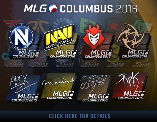 Стикери от MLG Columbus 2016