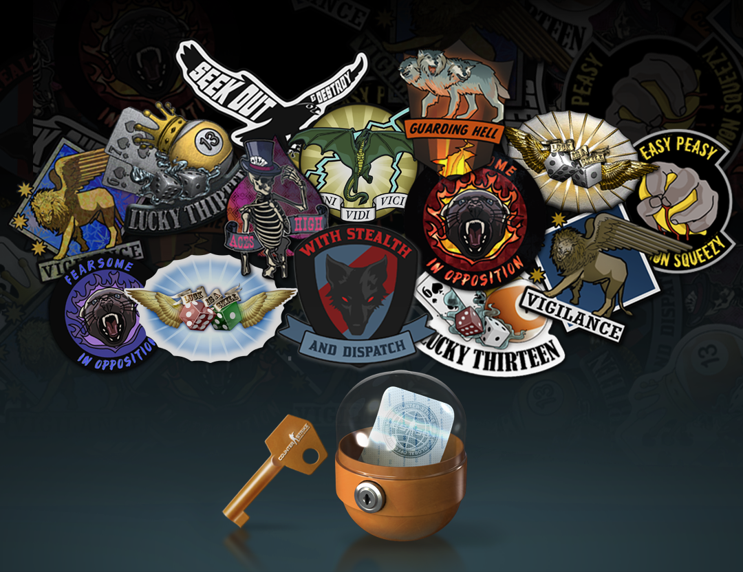 Stickers get attached to CS:GO weaponry
