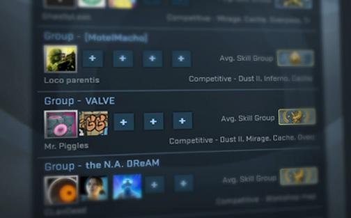 """Лобита от Steam групи изредени в раздела """"Steam групи"""" от главното меню"""