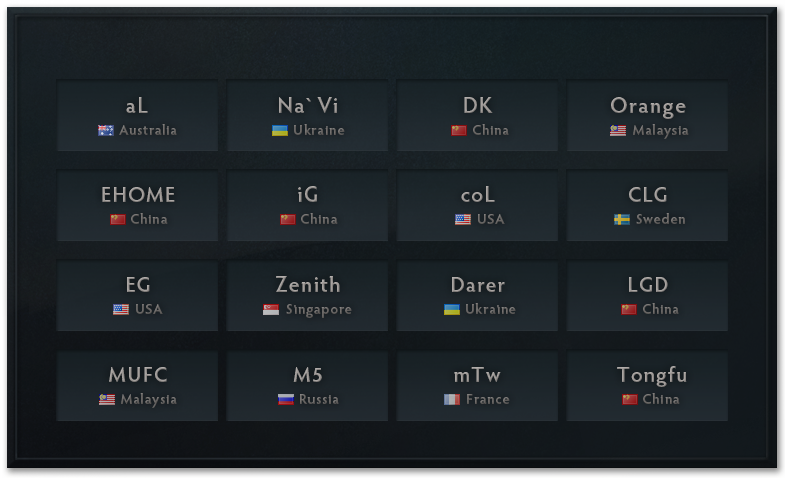 The International tournament roster.