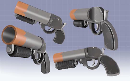 Как сделать пушку из тф2