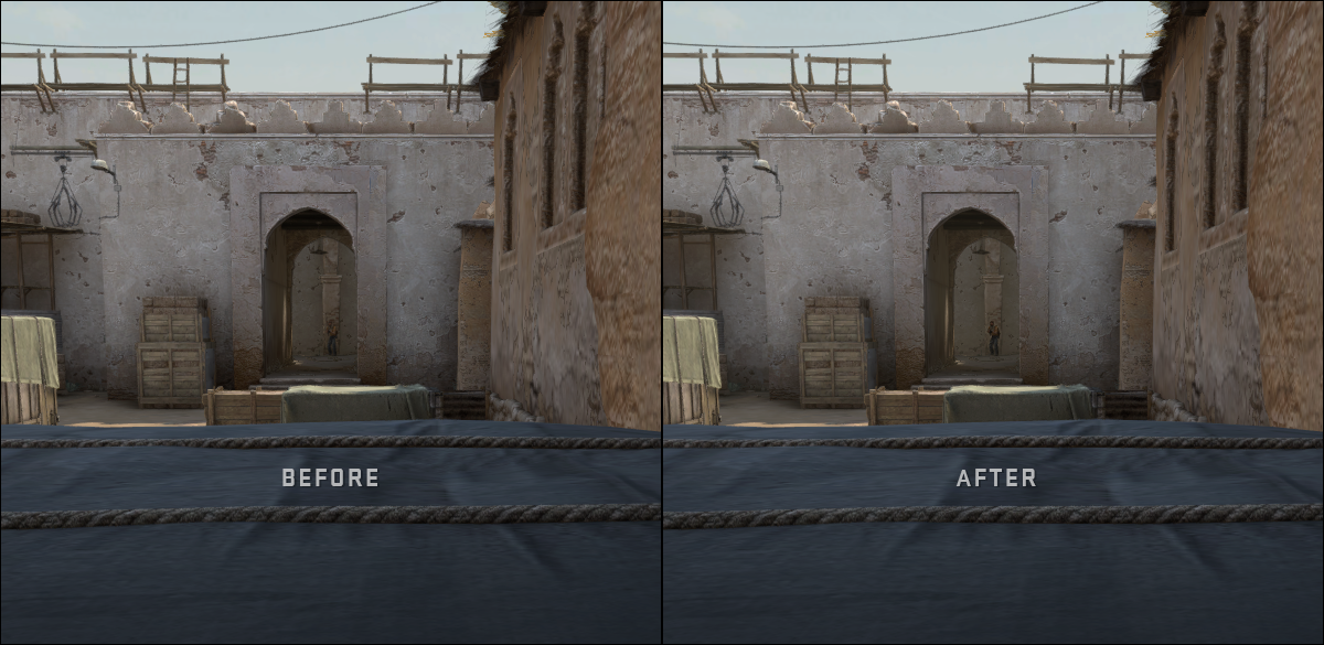 CSGO character contrast boosted